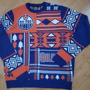 NHL Edmonton Oilers Ugly Christmas Sweater XL